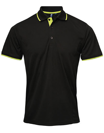 PW618 Premier Workwear Mens Contrast Coolchecker Polo